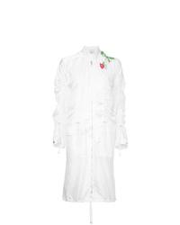 weißer bestickter Mantel