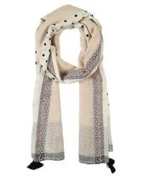 weißer gepunkteter Schal von s.Oliver