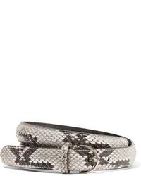 weißer Gürtel mit Schlangenmuster von Acne Studios
