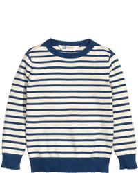 weißer horizontal gestreifter Pullover