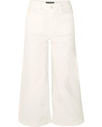 weißer Hosenrock aus Jeans von J.Crew