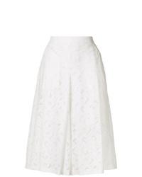 weißer Hosenrock aus Spitze von Neil Barrett