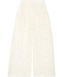 weißer Hosenrock aus Spitze von Valentino