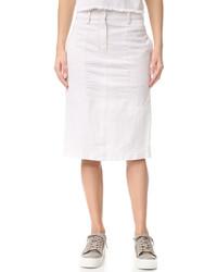 Weißer Jeans Bleistiftrock von DKNY