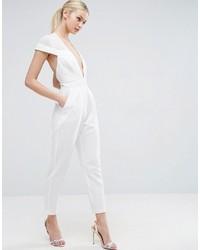 huge selection of bd53f ab92e Modische weißen Jumpsuit aus Samt für Winter 2019 kaufen ...