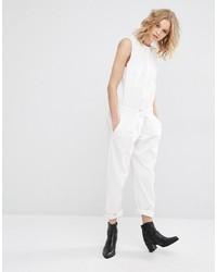 weißer Jumpsuit von Mango