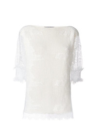 weißer Kurzarmpullover von Ermanno Scervino