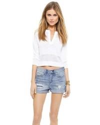 weißer kurzer Pullover von Alice + Olivia