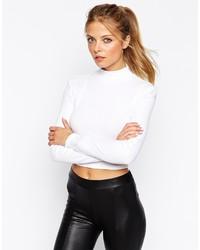 weißer kurzer Pullover von Asos