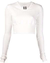weißer kurzer Pullover von Rick Owens