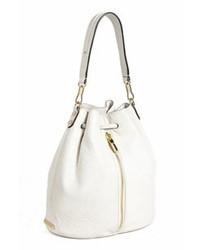 weißer Leder Rucksack