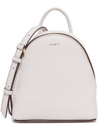 weißer Leder Rucksack von DKNY