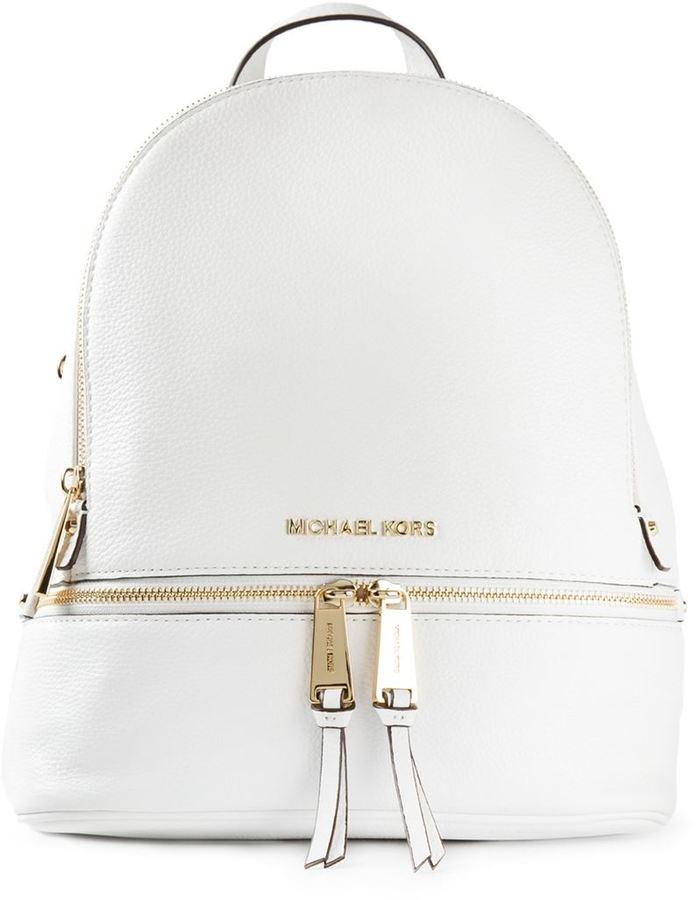 345d3ff3520f4 ... weißer Leder Rucksack von MICHAEL Michael Kors