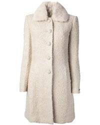 weißer Mantel aus Bouclé
