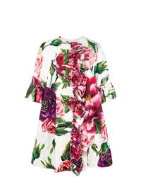 weißer Mantel mit Blumenmuster von Dolce & Gabbana