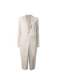 weißer Mantel von Rick Owens