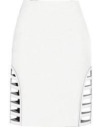 weißer Minirock mit Ausschnitten von Fendi