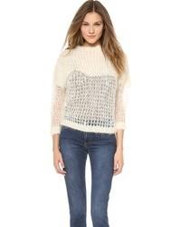 weißer Mohair Oversize Pullover von Acne Studios