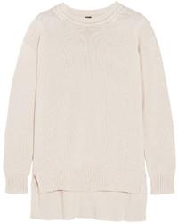 weißer Oversize Pullover von ADAM by Adam Lippes