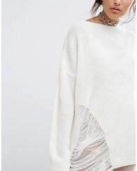 weißer Oversize Pullover   Wo zu kaufen und wie zu kombinieren 7bf082d656