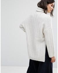 weißer Oversize Pullover von Selected   Wo zu kaufen und wie zu ... 9f8fa8c6b7