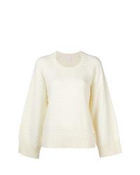 weißer Oversize Pullover von See by Chloe