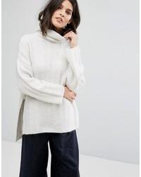 Weißer Oversize Pullover von Selected