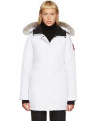 Modische weißen Parka für Damen von Canada Goose für Winter 2019 ... aad2b11a97