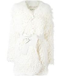 Weißer Pelz von Fendi