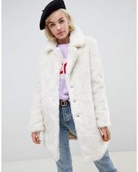 weißer Pelz von Glamorous