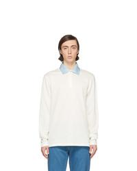 weißer Polo Pullover von Lanvin