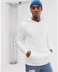 weißer Pullover mit einem Kapuze von ASOS DESIGN