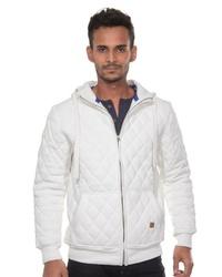 weißer Pullover mit einem Kapuze von CAZADOR