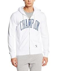 weißer Pullover mit einem Kapuze von Champion