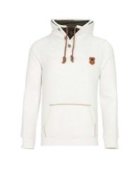 weißer Pullover mit einem Kapuze von Cipo & Baxx