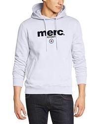 weißer Pullover mit einem Kapuze von Merc of London