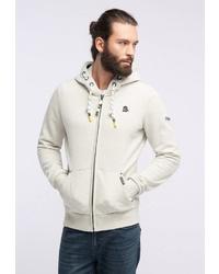 weißer Pullover mit einem Kapuze von Schmuddelwedda