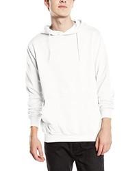 weißer Pullover mit einem Kapuze von Stedman Apparel