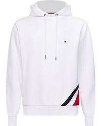 weißer Pullover mit einem Kapuze von Tommy Hilfiger