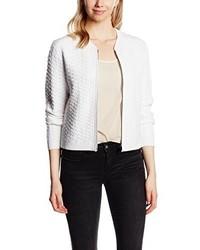 weißer Pullover mit einem Reißverschluß von Calvin Klein Jeans