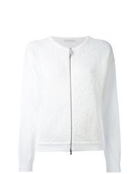 weißer Pullover mit einem Reißverschluß von Fabiana Filippi