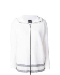 weißer Pullover mit einem Reißverschluß von Lorena Antoniazzi
