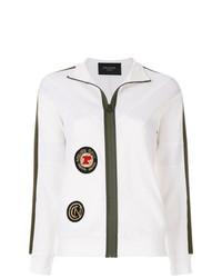 weißer Pullover mit einem Reißverschluß von Mr & Mrs Italy