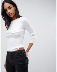 weißer Pullover mit einem Rundhalsausschnitt von ASOS DESIGN