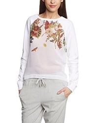 weißer Pullover mit einem Rundhalsausschnitt von Brunotti