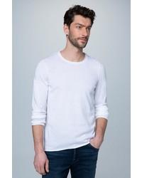 weißer Pullover mit einem Rundhalsausschnitt von Camp David