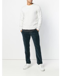 weißer Pullover mit einem Rundhalsausschnitt von Jacob Cohen