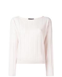 weißer Pullover mit einem Rundhalsausschnitt von Fabiana Filippi