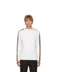 weißer Pullover mit einem Rundhalsausschnitt von Fendi