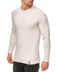 weißer Pullover mit einem Rundhalsausschnitt von INDICODE